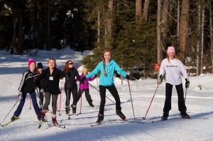 Soccer Team Skiing