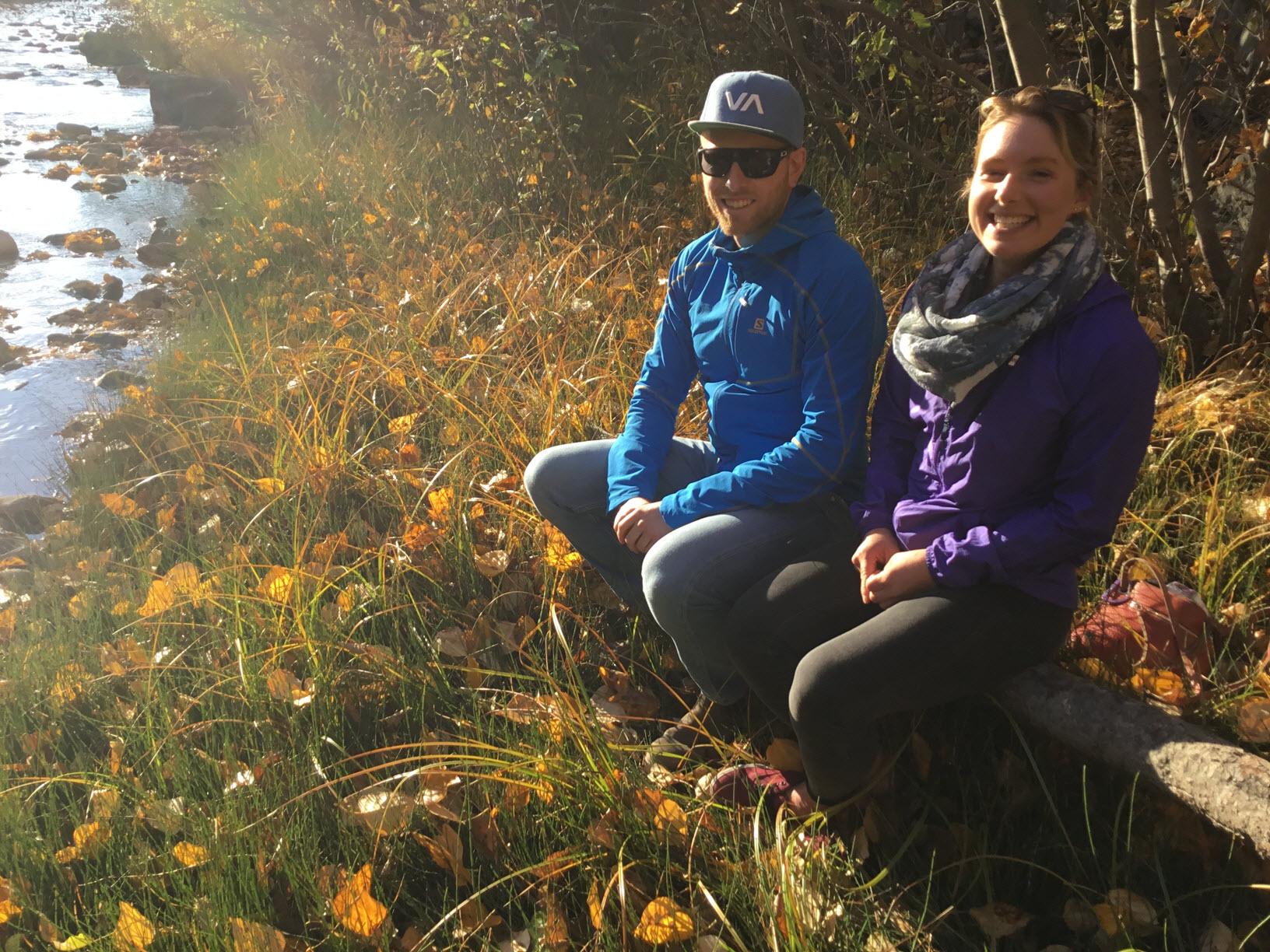Greg Kilroy and Bryana van Leeuwen, Telemark Nordic Masters Program Head Coaches